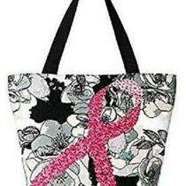 Avon Breast Cancer Floral Tote Bag Photo