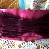Avon Burgundy Wine Clutch Purse Cosmetic Bag Free Shipping Photo
