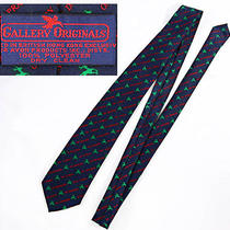 Avon by Gallery Originals Christmas Reindeer Names Neck Tie Navy Blue Greenred Photo