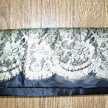 Avon Clutch Bag Black Satin and Antique Lace Photo