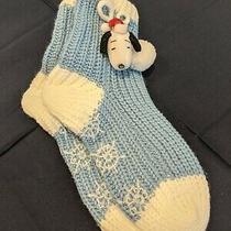 Avon Comfy Slipper Socks Snoopy - Unused New W/o Tags Photo