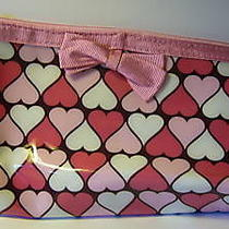 Avon    Cosmetic Case  Pink and White Hearts New Photo