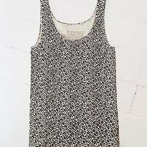 Avon Cream and Brown Animal Print Stretch Fitted Body Top Vest L 14-16 Photo