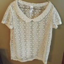 Avon Crochet Tee Xl Natural New Never Worn Photo