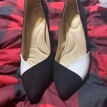 Avon Cushion Walk Black and White Heels Photo