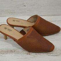 Avon Cushion Walk Brown Mules Heel 3