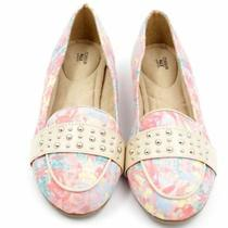 Avon Cushion Walk Spring Floral Loafer Sz 7 Slip-on Flats Shoes Stud Coral Pink Photo
