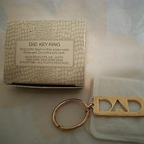 Avon Dad Key Ring Chain Gold Tone 1980's Photo