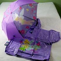 Avon Disney - Tinkerbell - Umbrella & Poncho - Purple - Girl's Rain Set  - New Photo