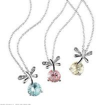 Avon Dragonfly Dance Necklace  Get Blue Only New in Box Silvertone Faux Stone  Photo