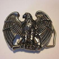Avon Eagle Belt Buckle Silver Tone Photo