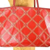 Avon Elegant Totebag & Wristlet Set Red & Gold Photo