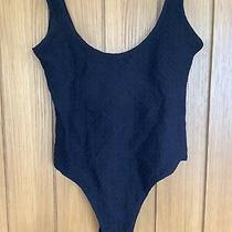 Avon Embrace Black Swimsuit Size 16/18 Textured Pattern Photo