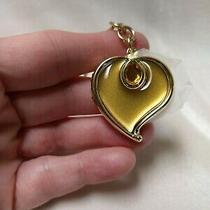 Avon Enamel and Crystal Heart Shaped Locket on Key Ring Photo