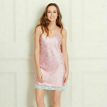 Avon Ethnic Oriental Print Satin Chemise Night Dress Size 8/10 Uk New 17 Pink Photo