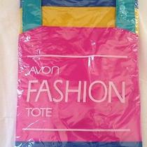 Avon Fashion Tote Bright Colors Pink Blue Yellow Teal Big Roomy  Photo