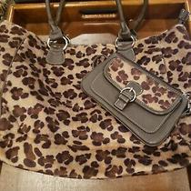 Avon Faux Fur Leopard Tote With Wallet Photo