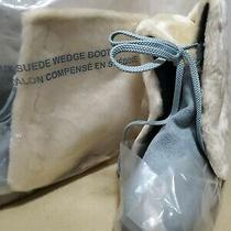 Avon - Faux Suede Wedge Heel Boot - Light Blue - Size 9 - New Photo