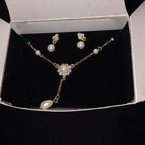 Avon Floret Y Necklace & Earrings Gift Set in Box Photo