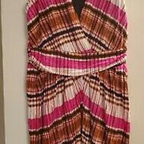 Avon Grecian Sunset Knit Dress Size M (8-10) Photo