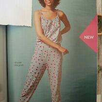Avon Grey Star Print Jumpsuit Lounge Wear Size Medium 12-14 Photo