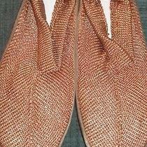 Avon Indoor / Outdoor Taupe Crochet Slipper 9/10 Photo