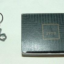 Avon Inspirational Pewter Key Chain Ring Cross Flower Floral Gray Religious Photo