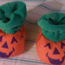 Avon Jack-O-Lantern Slippers Infant 1995 Gently Used Vg Photo