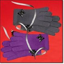 Avon Jeweled Gloves - Purple Photo