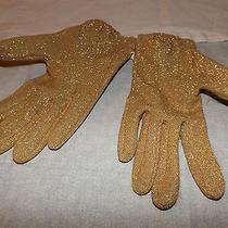 Avon Kadin  Gold Metallic Gloves Photo