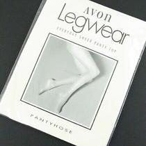 Avon Legwear Pantyhose Size a Ivory Sheer Panty Top Reinforced Toe Cotton Panel Photo