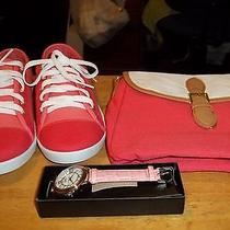 Avon Lot of Shoes Purse and Wrist Watch. All New. Photo