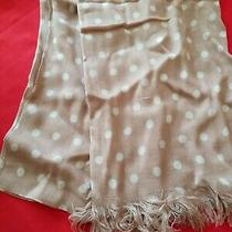 Avon Mark Collection Scarf Beige With White Dots Design New Photo