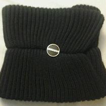 Avon Mark Sophisticated Elegance Scarf W/ Enamel Button Black  Brand New  Photo