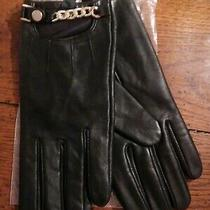 Avon Mark Womens Black Leather Chain Mail Gloves L/xl Photo