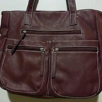 Avon Maroon Wine Tote Shopper Handbag Lots of Compartments Photo