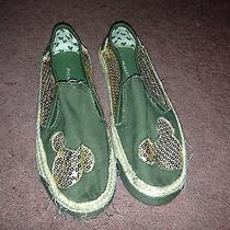 Avon Mickey Mouse Sequined Canvas Slide on Shoes Women's Size 9 Photo