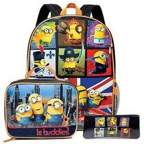 Avon Minions Traveling Desk School Backpack & Lunch Box Set  Photo