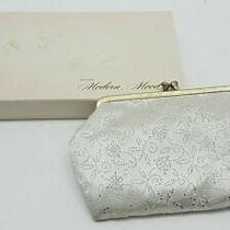 Avon Modern Mood Satin White Gold Clutch Bag Photo