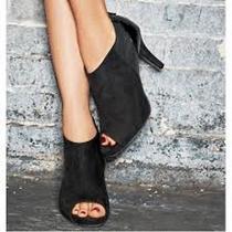 Avon Modern Peep Toe Bootie Size 6 Black  Photo