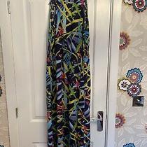 Avon Multi Coloured Midi Dress Size 14/16 Photo