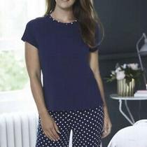 Avon Navy Spot Pjs Size 8/10-Pyjamas-Comfy-Medium 12-14 Pjs- Cheapest-Free p&p Photo