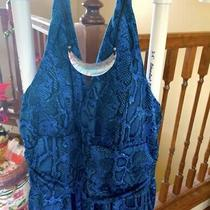 Avon Nwots Blue/black Snakeskin Halter Dress Size Sm Photo