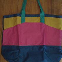 Avon Nylon Vinyl Fashion Tote Shopping Travel Case Beach Pool Bright Colors Bag Photo