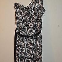 Avon One Shoulder Printed Lace Dress Large Print Photo
