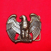 Avon Patriotic Eagle Belt Buckle  Brass Tone Photo