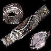 Avon Pewter Shinny Metalic Wrist Arm Bracelet Wristlet Wallet New Free Ship Photo