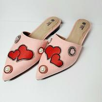 Avon Pink Heart Patch Embellished Slip on Shoes Size 9 Photo