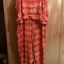 Avon Pink Red Summer Aztec Print Tall Jumpsuit Size 16  Photo