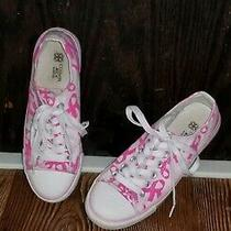 Avon  Pink Ribbon Breast Cancer Canvas Shoes Sneakers Athletic Tennis Women's 7  Photo